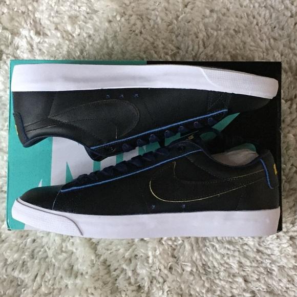 detailed look 054fd 3e2e5 Nike SB X NBA Blazer Low GT Warriors BQ6389-001